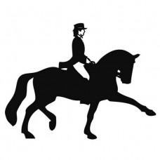 Наклейка на машину HKM Dressage Rider