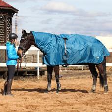 Попона дождевая DreamHorses Raincoat blue , PU 6000