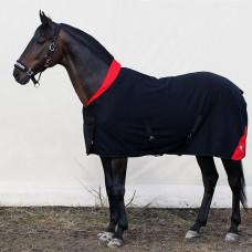 Попона флисовая с запахом на груди и воротничком Horse One Soft Line