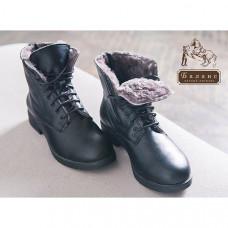 Ботинки кожаные с натуральным мехом на молнии EquiBoots