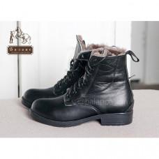 Ботинки кожаные с натуральным мехом EquiBoots