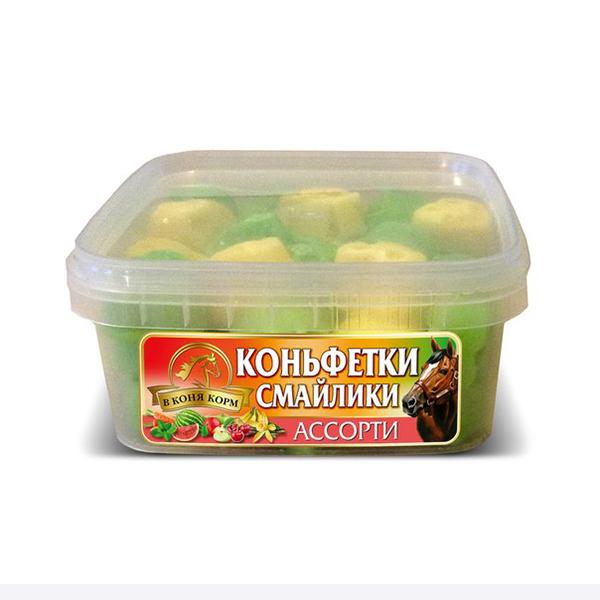 """Коньфетки-смайлики ассорти """"В коня корм"""", 480 гр"""